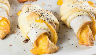 Everything Bagel Turkey Cheddar Crescent Rolls